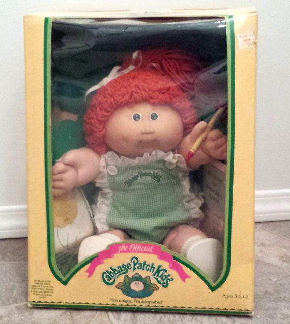 Cabbage Patch Kids Doll Girl With Crayon The Official 1985 In Cabbage Patch Kids Vintage Cabbage Patch Dolls Cabbage Patch Dolls