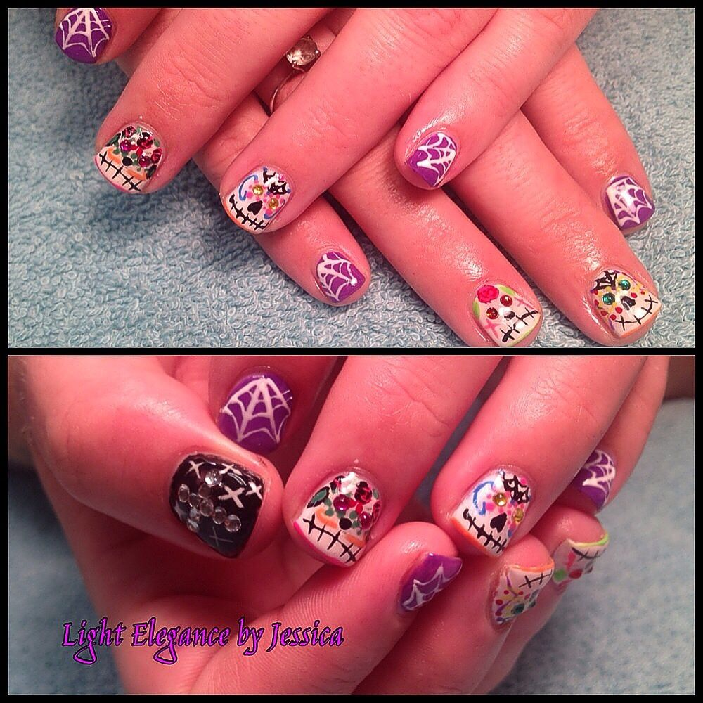 Light Elegance Gel Nails by Jessica in Salem Oregon. Halloween, day ...