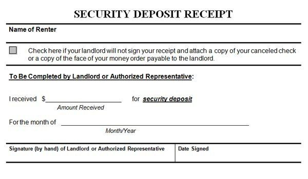 Non Refundable Deposit Agreement Template Unique Security Deposit Receipt Receipt Template Invoice Template Contract Template
