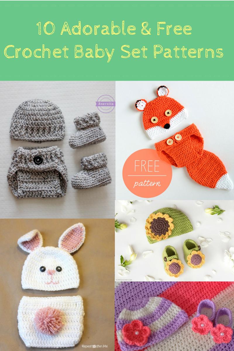 10 Adorable & Free Crochet Baby Set Patterns | Crochet patterns baby ...