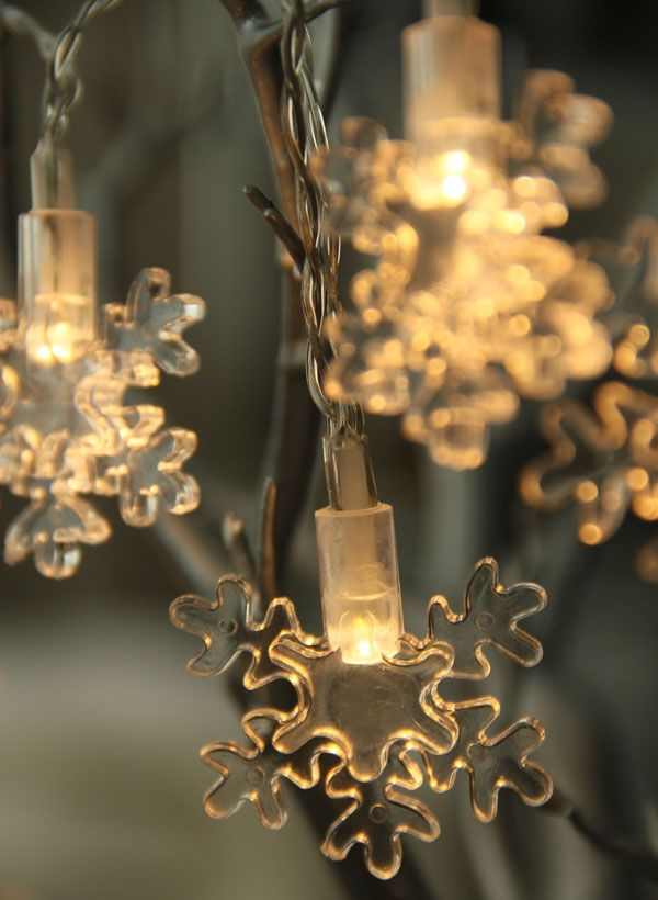 Battery Operated LED Snowflake String Lights - 6.5 Feet   Merry