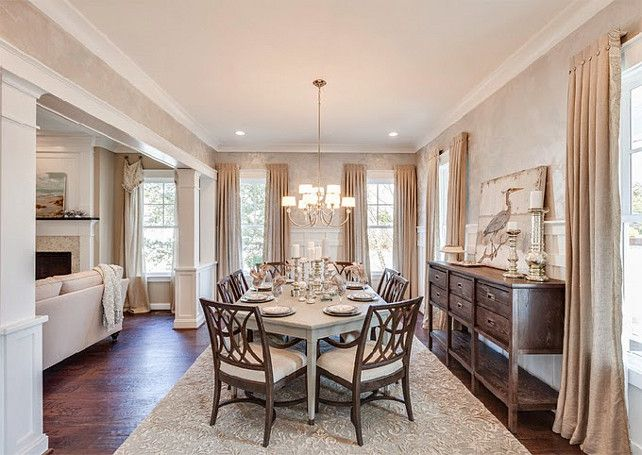 A Gray Washed Hexagon Dining Room Table To Accommodate More