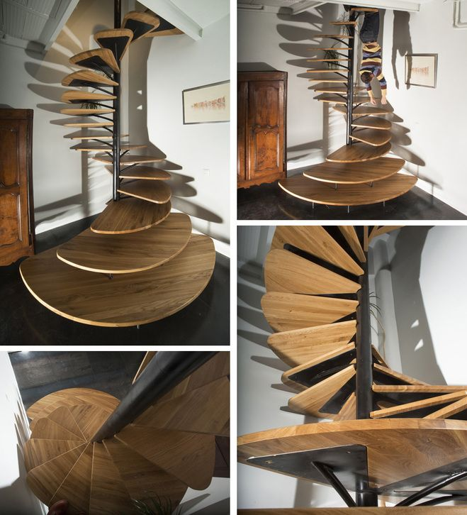 fan shaped stairs by architect paul coudamy cool home design ideas pinterest architects. Black Bedroom Furniture Sets. Home Design Ideas