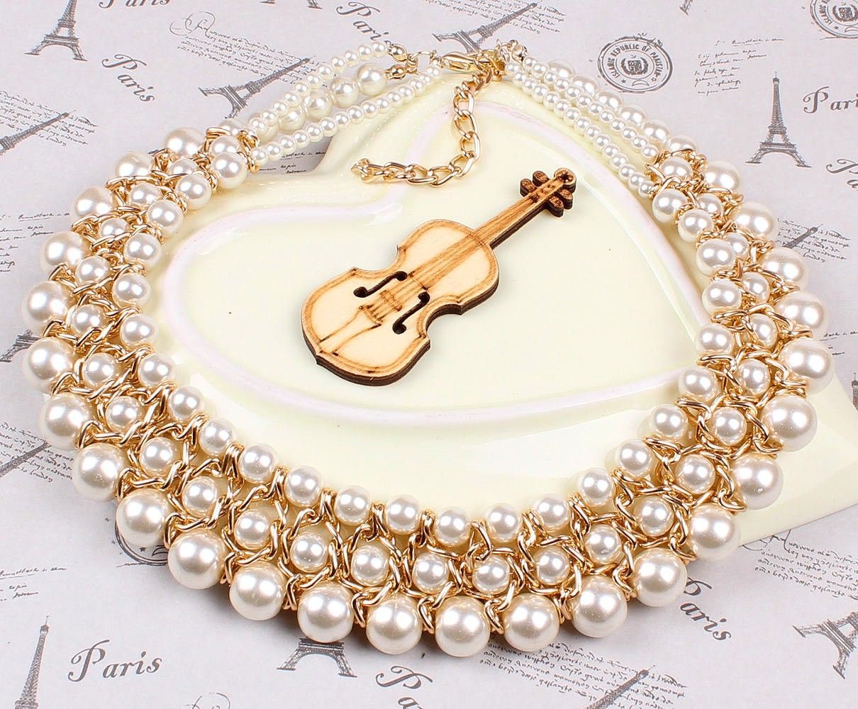 Alloy and Imitation Pearl Three Circle Necklace Women Ladies Necklace Jewelry Gift