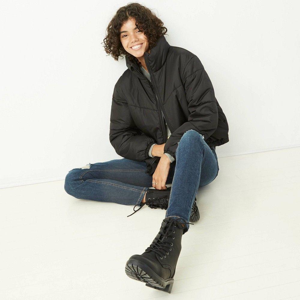 Women S Puffer Jacket Wild Fable Black L In 2020 Puffer Jacket Women Women S Puffer Puffer Jackets [ 1000 x 1000 Pixel ]