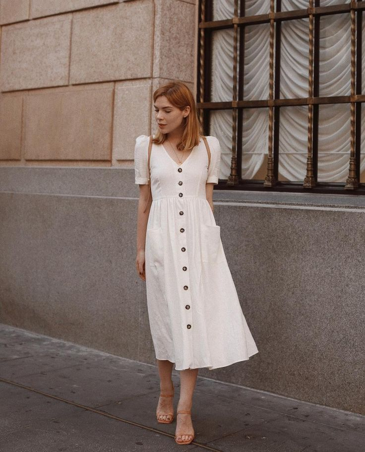button front dress #modestfashion