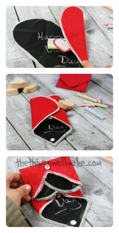 Portable, Foldable Chalkboard Heart - The Perfect Valentine! - Oh, The Things We'll Make!