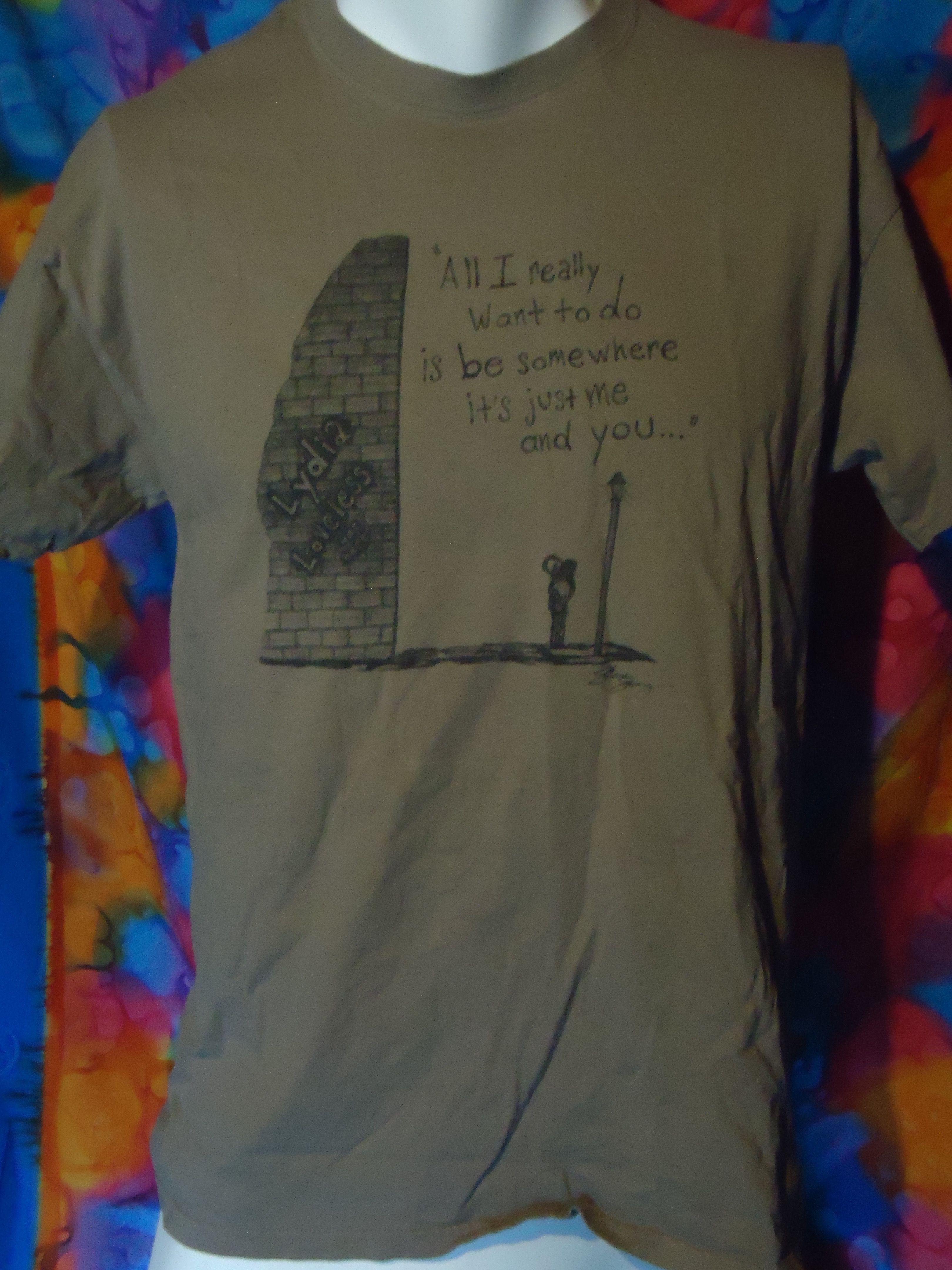 Lydia Loveless Wine Lips Lyrics Vintage T Shirt Brown L