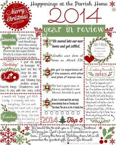 Christmas letter get your free 2014 year in review printable christmas letter get your free 2014 year in review printable template spiritdancerdesigns Images