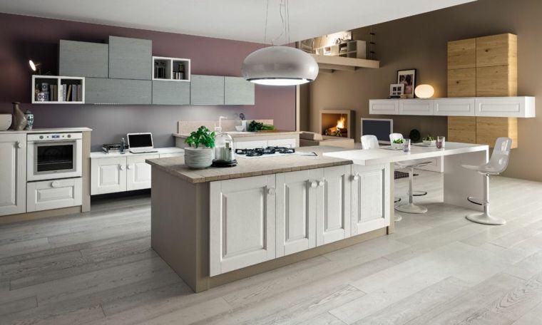 moderna soluzione per arredare una cucina muratura con una grande ...