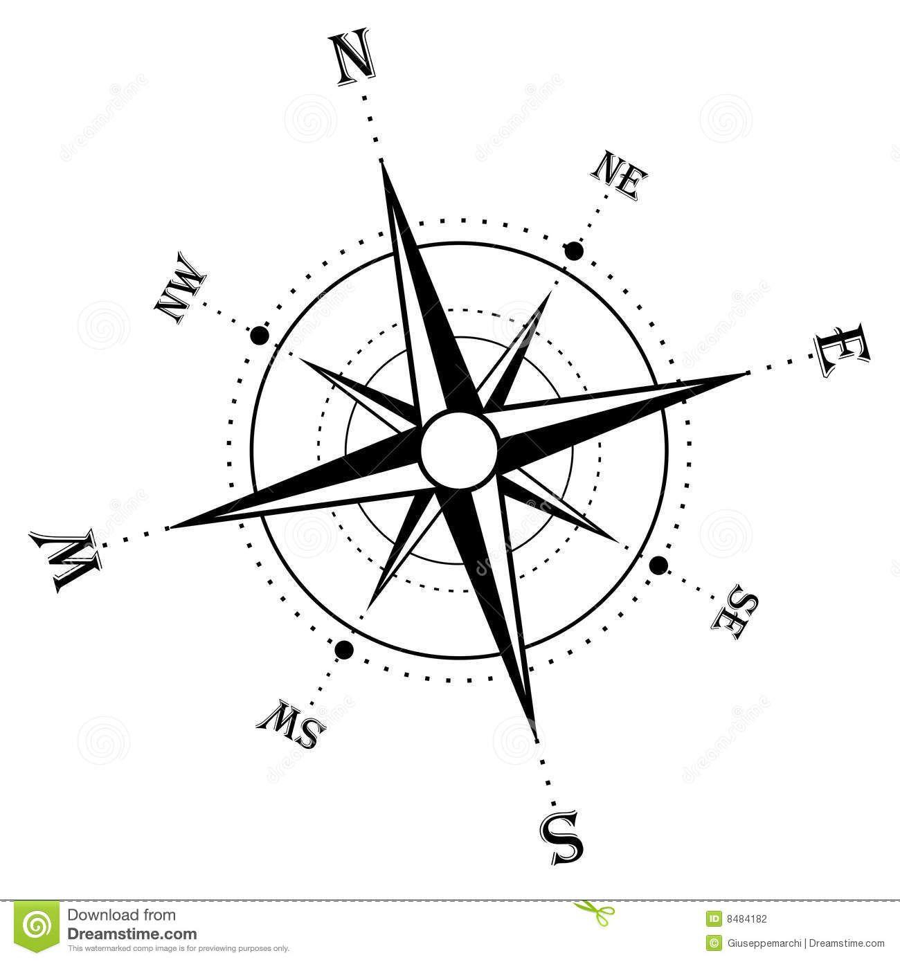 Compass Rose Clip Art Public Domain Compass Rose Black And