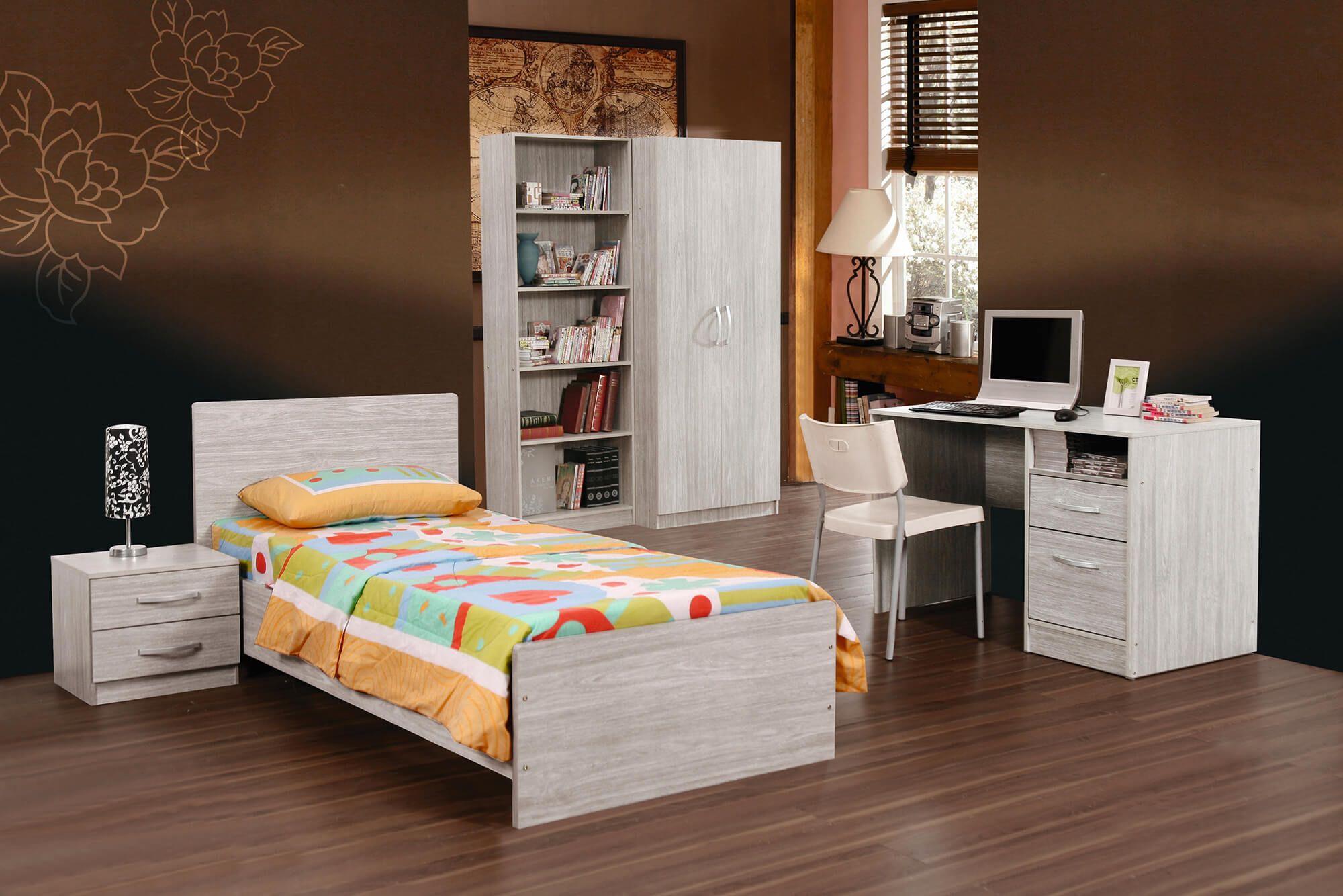 Jeugdslaapkamer Camila, bed 90x200 + nachttafel