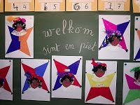 Bij juf Els in het eerste leerjaar: We knutselen Zwarte Piet