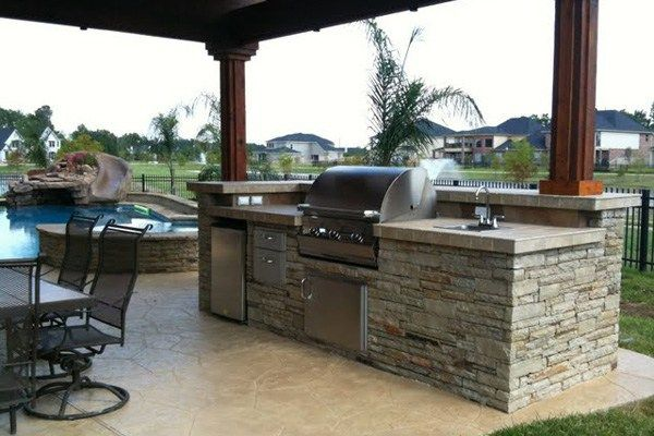 Backyard Pool And Outdoor Kitchen Designs outdoor kitchen ideas appliances cabinets pool home florida custom