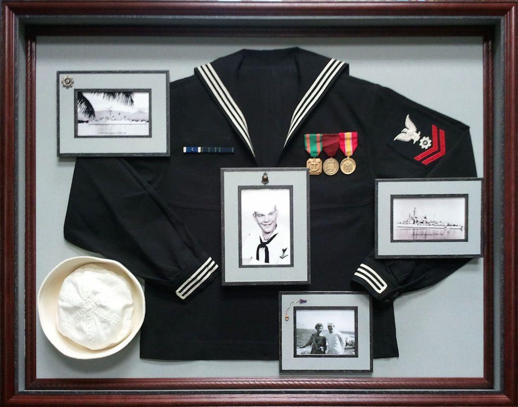 gallery framed uniform in a shadow box tuxedo frame