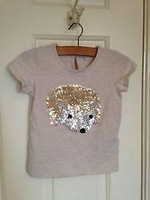 e2d40c44b M&S Sparkly Sequin Hedgehog T-Shirt 2-3 Years | Hedgehog Clothing ...