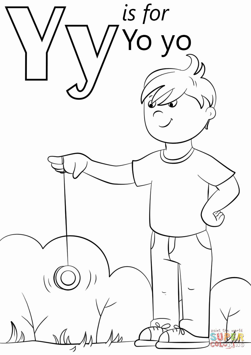 Letter Y Coloring Page Luxury Letter Y Is For Yo Yo Coloring Page Letter Y Crafts Letter A Crafts Alphabet Coloring Pages