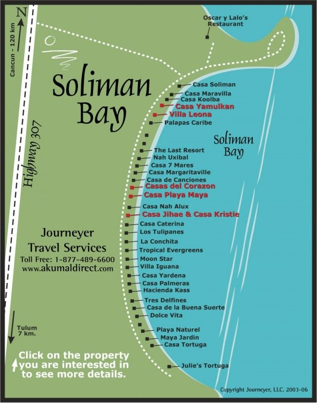 Soliman Bay Map | Akumal Direct Reservations | awesome places ...