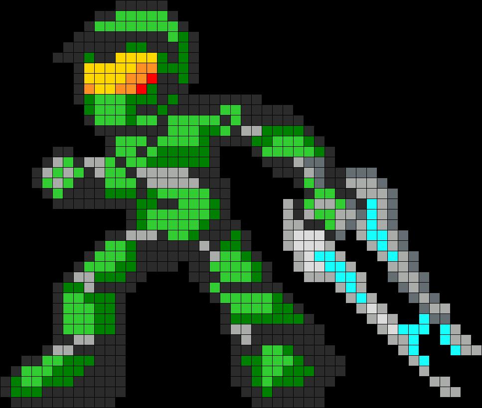Energy Sword Halo Art Pixel