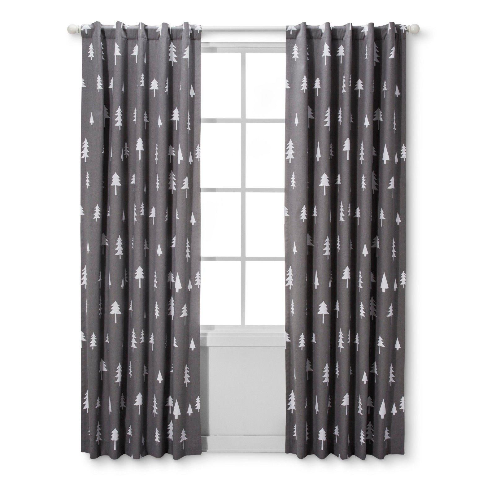 Blackout Curtain Panel Trees Cloud Island Gray Light Blocking Curtains Tree Curtains Panel Curtains
