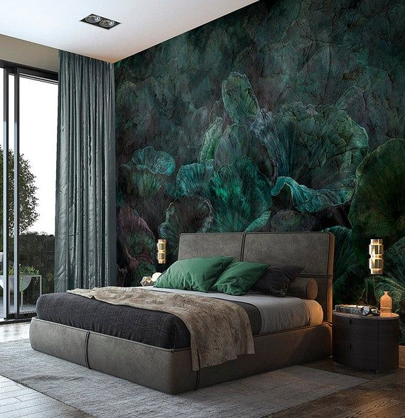 Nymphea - Customized Unique Wallpaper, Removable,