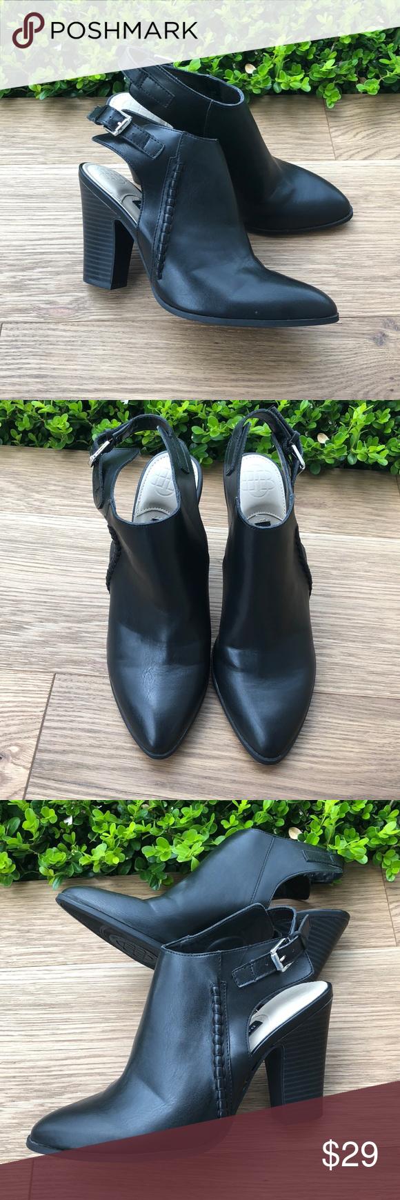 •Dana Buchman• Black Faux Leather Shoes Shoes women