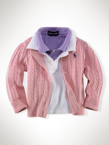 671c3a5b2d9e Cotton Mini Cable Cardigan - Infant Girls Sweaters - RalphLauren.com ...