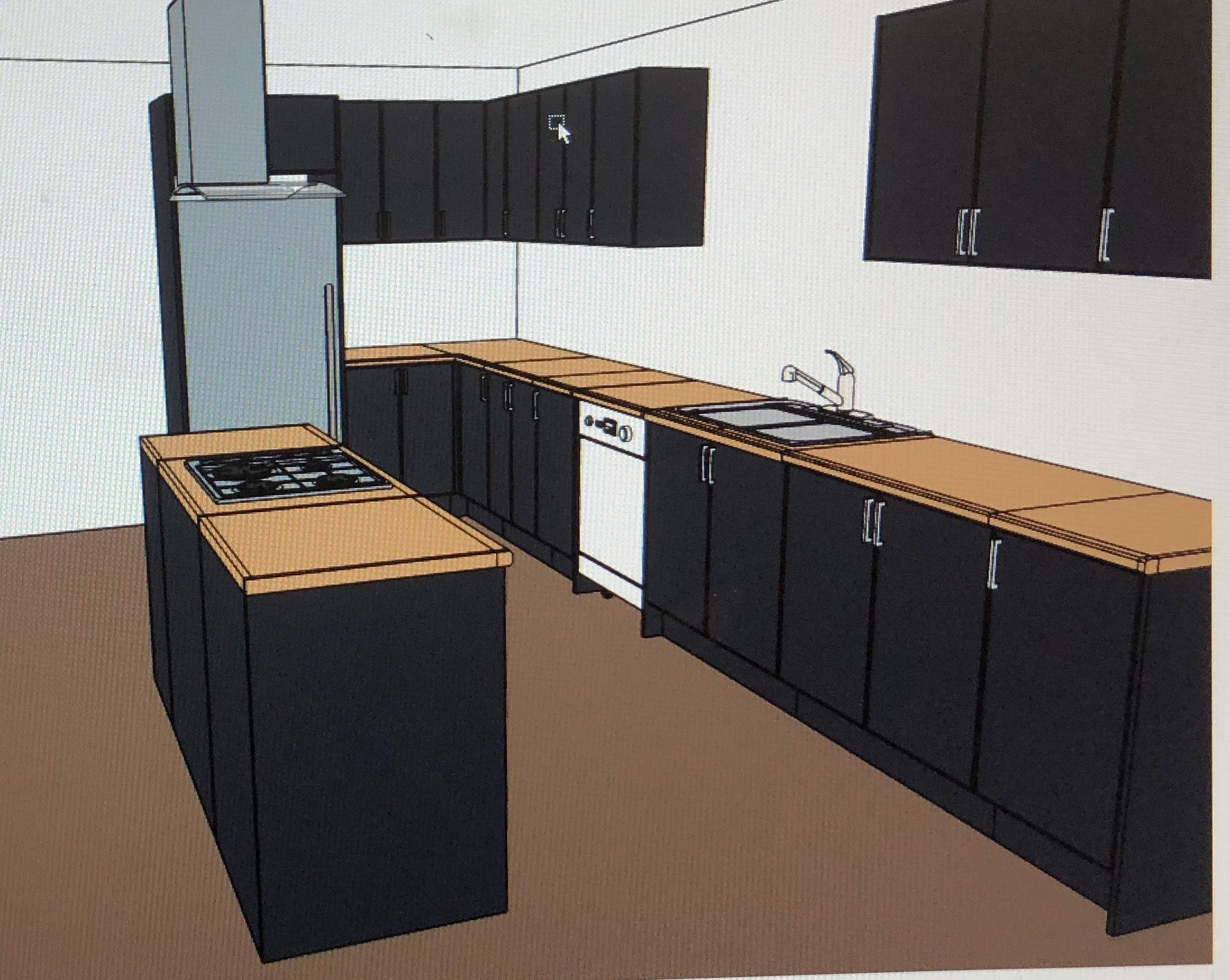 layout two kaboodle kitchen rendered view kitchen outdoor storage box outdoor storage on kaboodle kitchen microwave id=99738