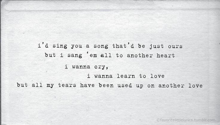 Another Love Poetry Another Love Lyrics Favorite Lyrics