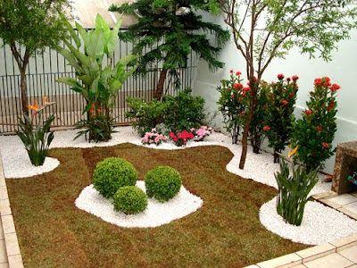 Como fazer um jardim simples e barato no quintal | Plantas, Jardines ...