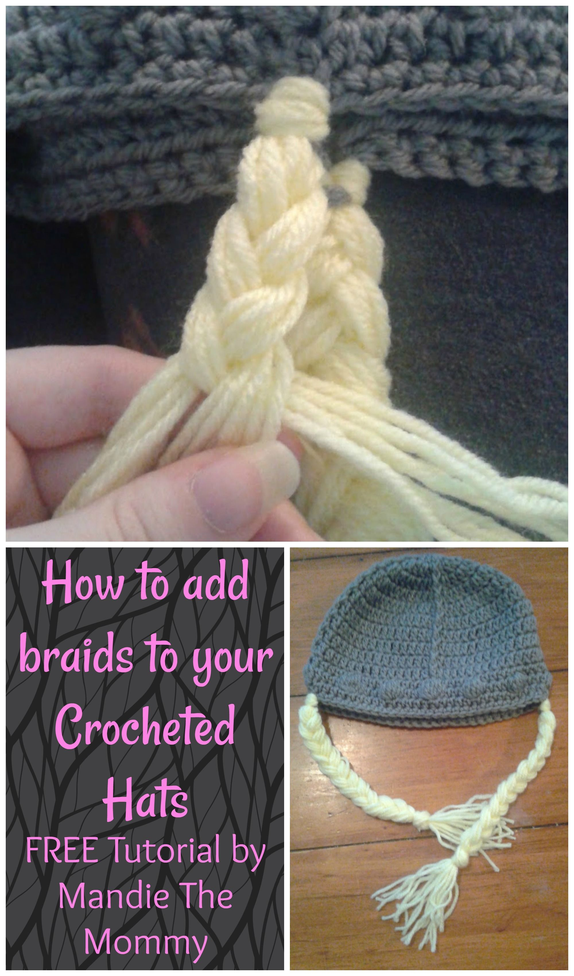 Finish your crocheted hats with adorable braids using the FREE ...