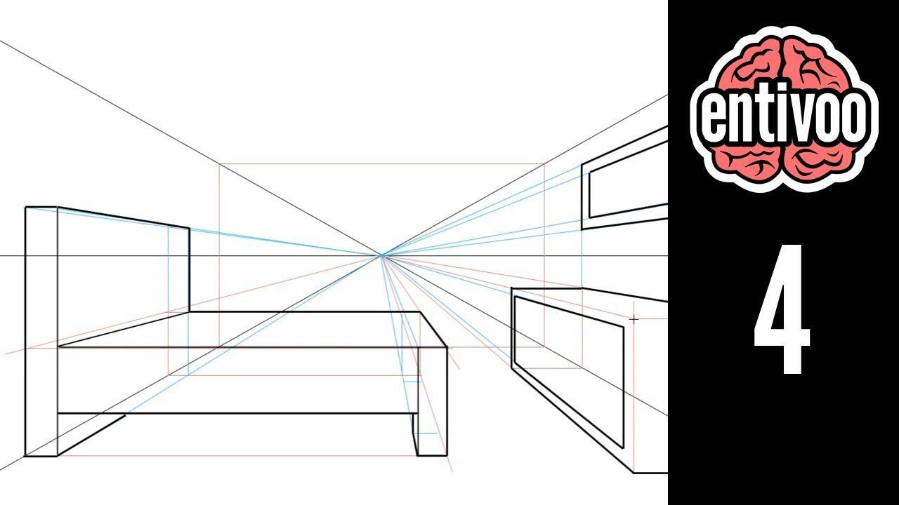 Dibuja Un Cuarto Usando Perspectiva A Un Punto De Fuga Punto De Fuga Clases De Dibujo Dibujos De Puntos