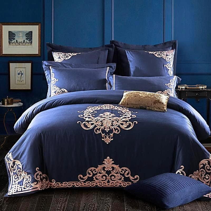 4 Piece Ivarose Luxury Egyptian Cotton Bed Sheets Comforter Cover