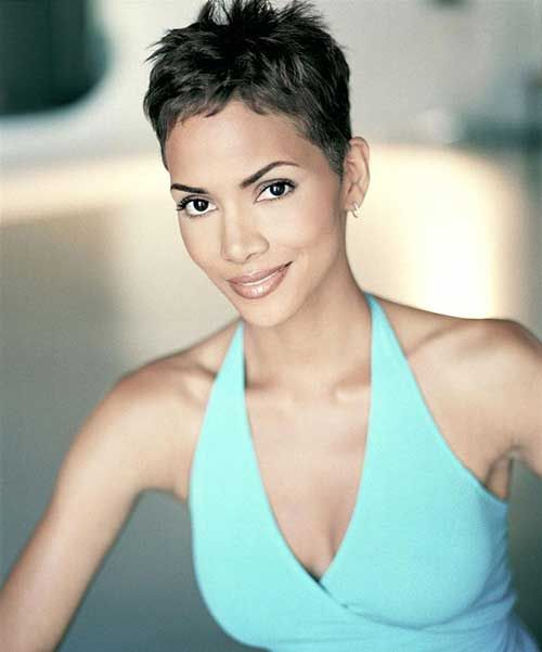 Halle Berry Short Hairstyles halle berry short straight casual halle berry short straight casual side view 20 Best Halle Berry Pixie Cuts Httpwwwshort Haircut