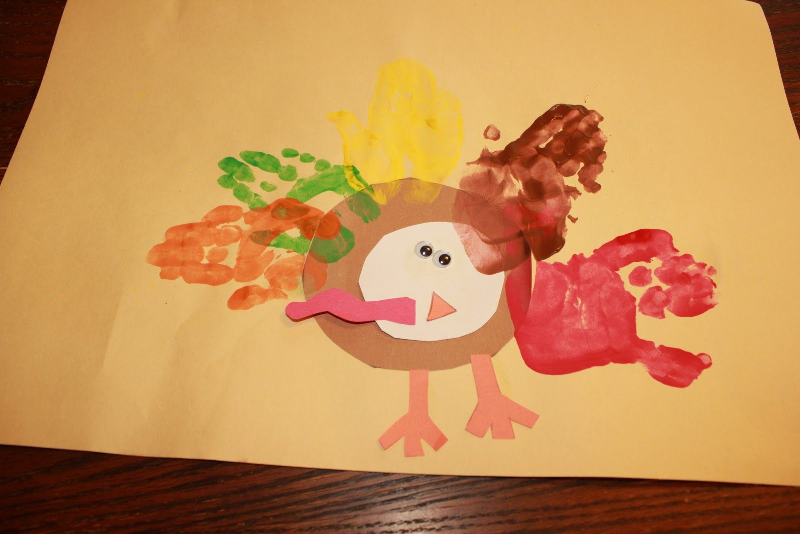 This Would Be A Great Turkey Craft For Thanksgiving For My Two Year Olds They Love Feeling The