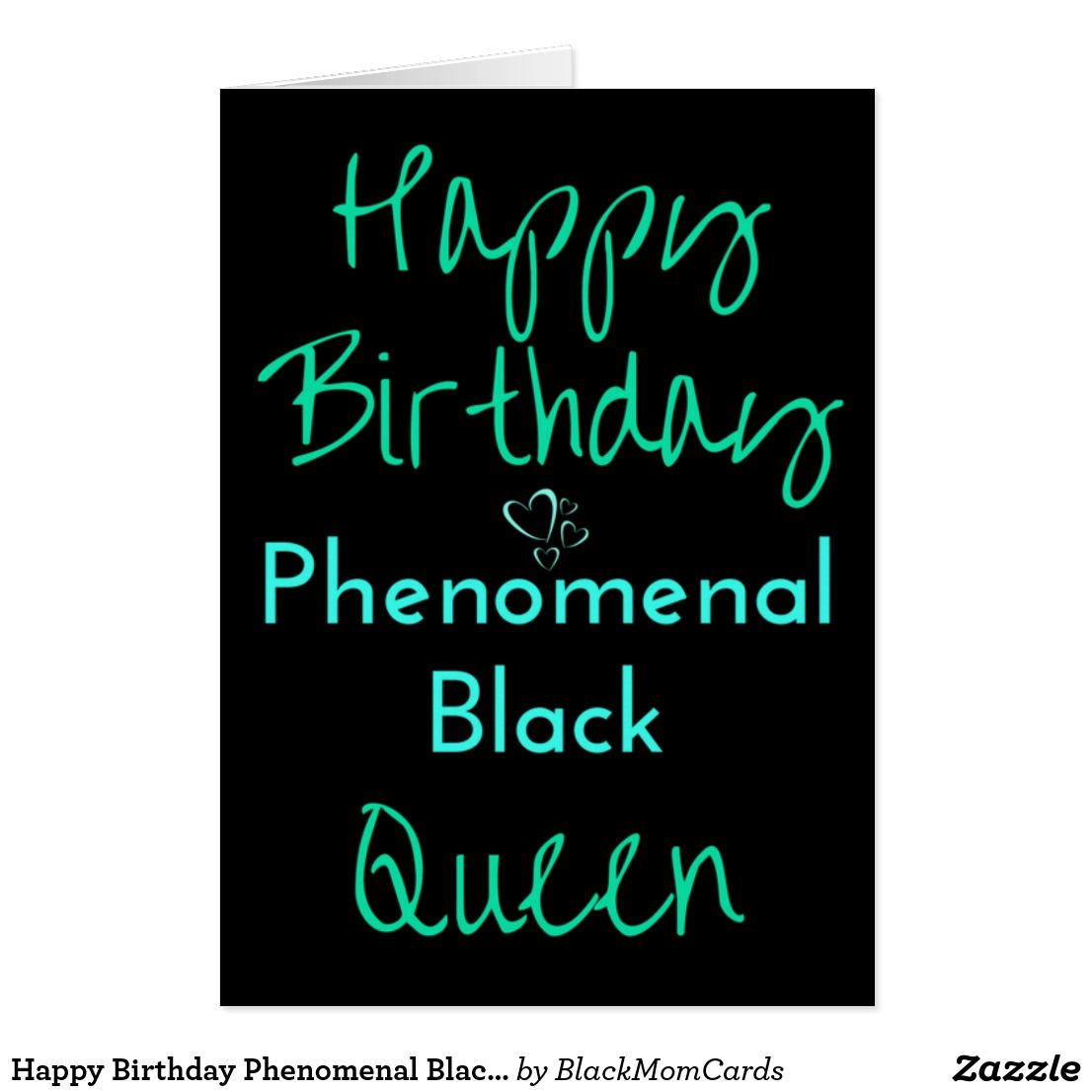 Happy Birthday Phenomenal Black Queen Card African American