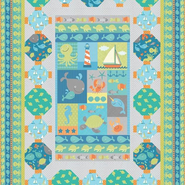 Splash Splash fabric line and At the Sea Shore quilt kit just added!