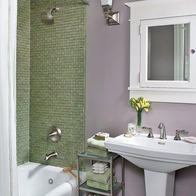 Clean Line, Soft Finishes Update An Empty Nest. Bathroom PurpleLavender  BathroomGreen ...