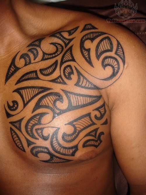 Small Mens Tribal Chest Tattoo Chest Tattoos For Men Pinterest