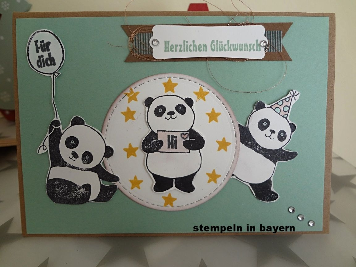 panda party stampin up stempeln in bayern stampin 39 up pinterest karten panda b r und. Black Bedroom Furniture Sets. Home Design Ideas