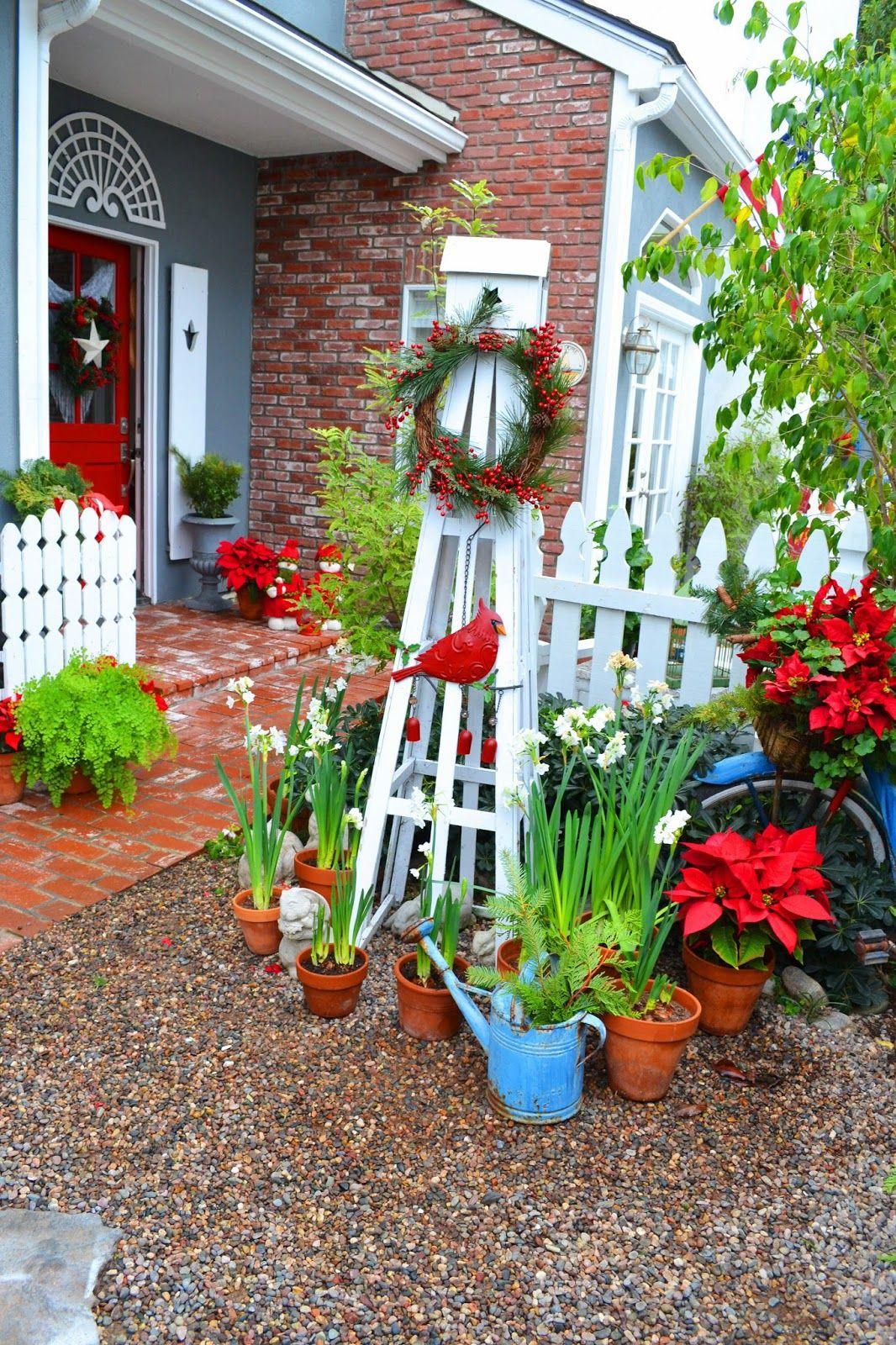 New home garden ideas  My Painted Garden Christmas Cottage HomeGarden Tour  Adorn Your