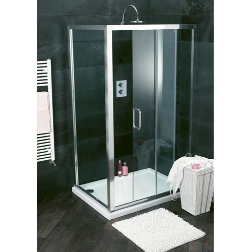Atlas 1100mm Shower Enclosure Sliding Door Bathstore Shower Enclosure Small Space Bathroom Bathroom Design Small