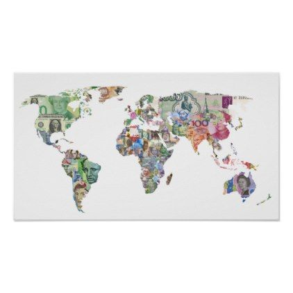 Money world map finance country symbol business cu poster diy money world map finance country symbol business cu poster cyo diy customize unique design gift idea gumiabroncs Gallery