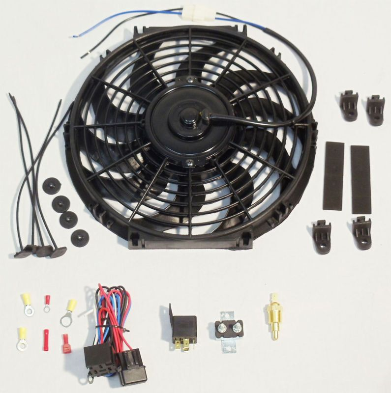 16 Electric Curved Blade Reversible Cooling Fan 12v 3000cfm Thermostat Kit Cooling Thermostat Reversible B Electric Cooling Fan Cooling Fan Radiator Fan