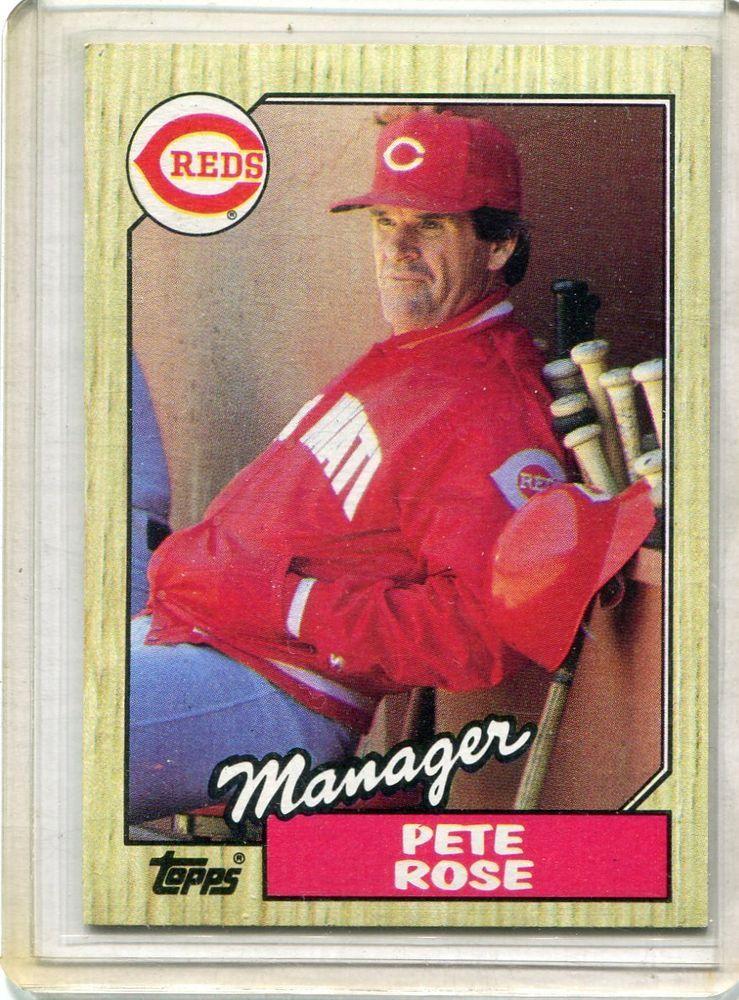 1987 Topps 25 Card Lot Baseball Cards Pete Rose Cincinnati