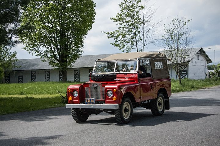 a nice land rover series ii in a color you don 39 t often see these in this one appeared to. Black Bedroom Furniture Sets. Home Design Ideas