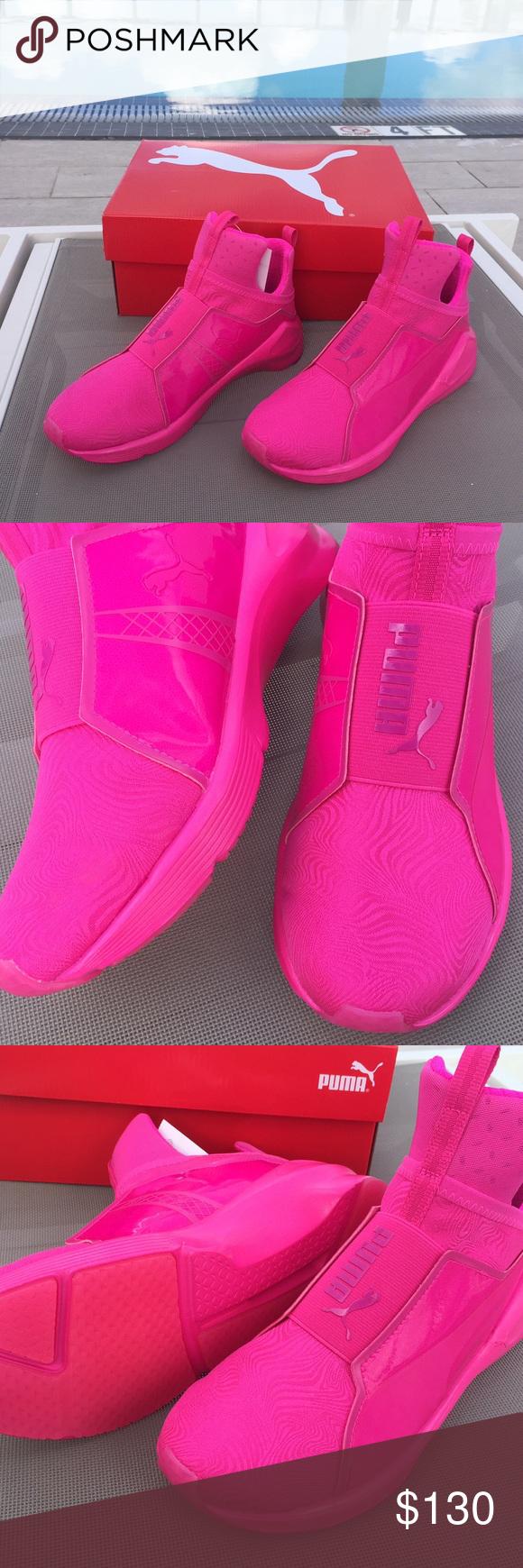 PUMA Hot Pink Sport Sneakers Running