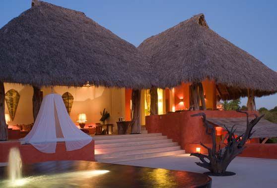 Casa Candelabros Courtyard   Pacific Luxury Villas