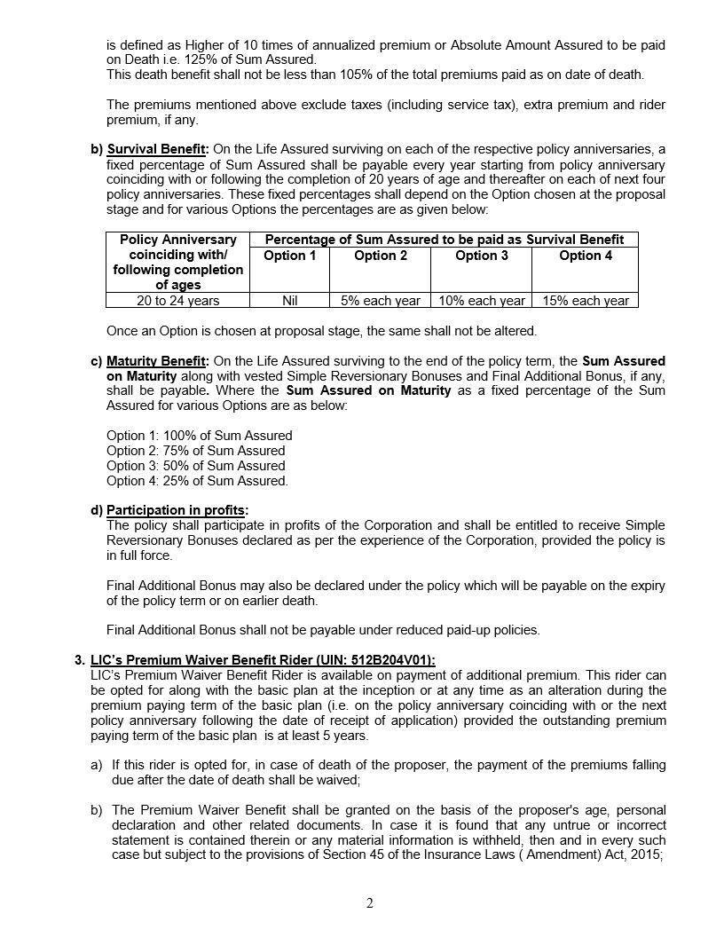 Jeevan Tarun Plan No 834 How To Plan Child Plan Insurance
