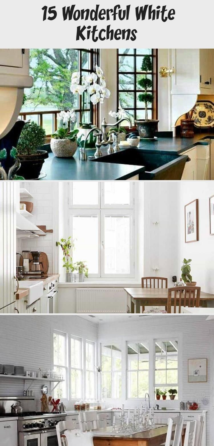 Who can resist a white kitchen??? For more interior decor and design ideas, tips and inspiration, follow @bohemiarealty #interiordesignFurniture #interiordesignLivingroom #interiordesignRestaurant #Bohointeriordesign #Vintageinteriordesign
